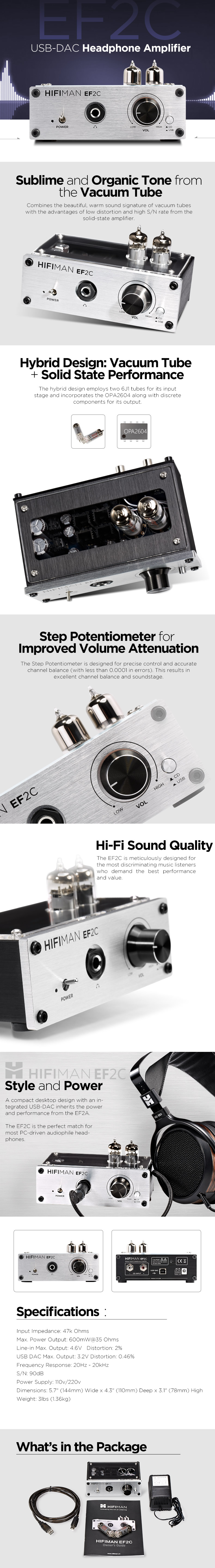 EF2C USB-DAC Headphone Amplifier